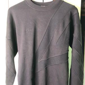 Black Umbro Premier Mens Crewneck Sweatshirt Small